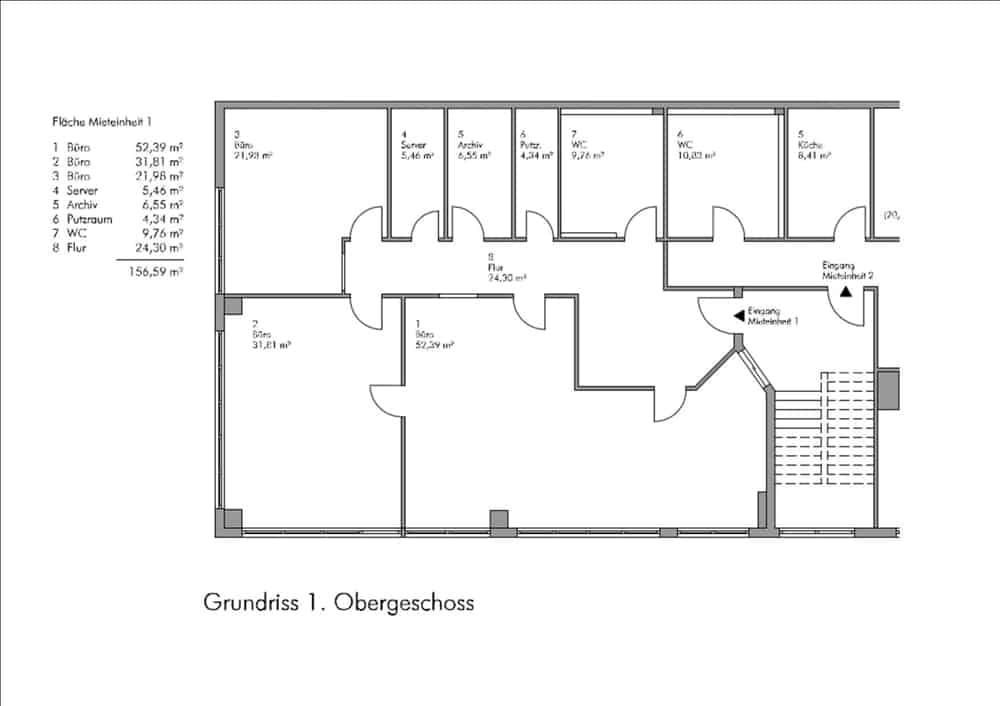 Büro - Grundriss