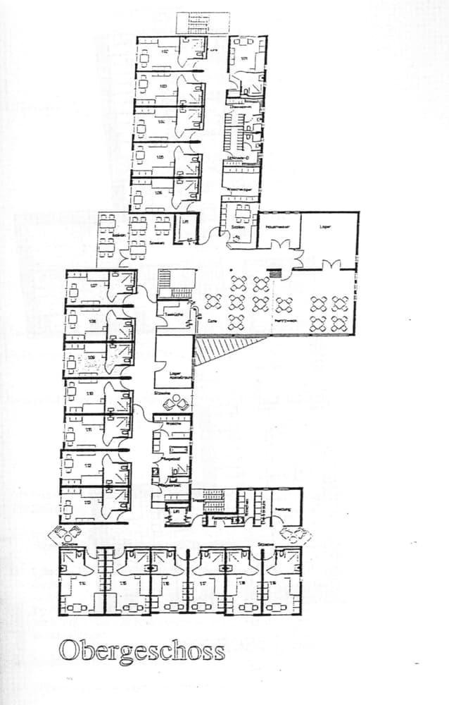 Etagengrundriss Obergeschoss